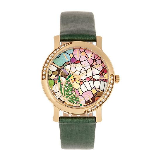 Bertha Womens Green Leather Strap Watch-Bthbr8704