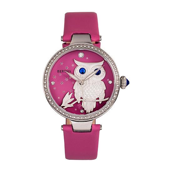 Bertha Womens Pink Leather Strap Watch-Bthbr8802