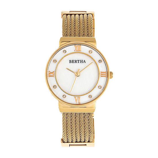 Bertha Womens Gold Tone Stainless Steel Bracelet Watch - Bthbr9703