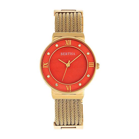 Bertha Womens Gold Tone Stainless Steel Bracelet Watch - Bthbr9704