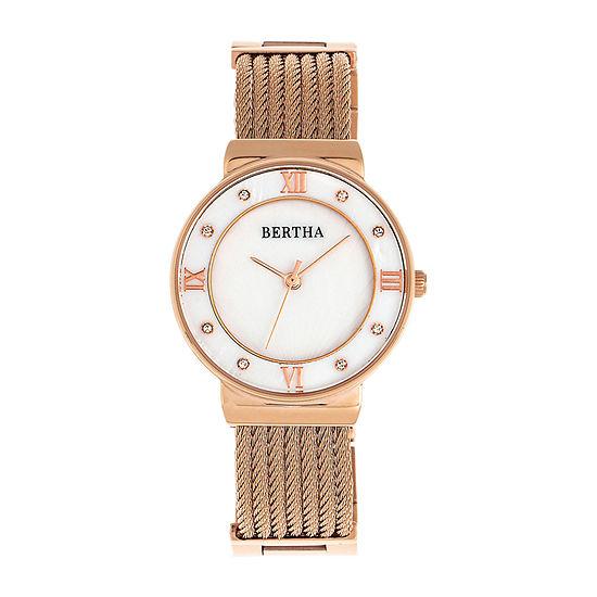 Bertha Womens Rose Goldtone Stainless Steel Bracelet Watch - Bthbr9705