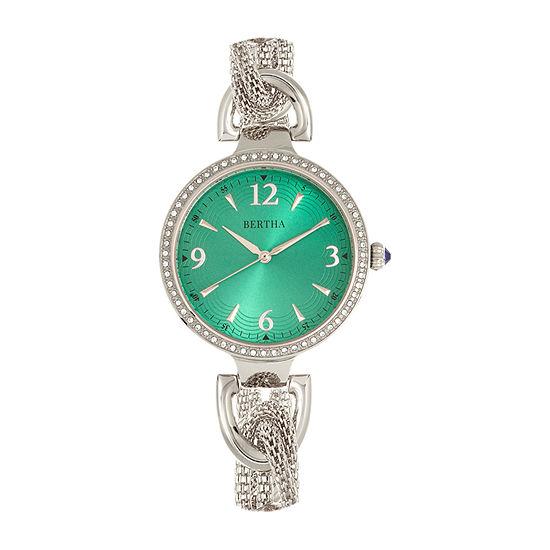 Bertha Womens Silver Tone Stainless Steel Bracelet Watch - Bthbr8902