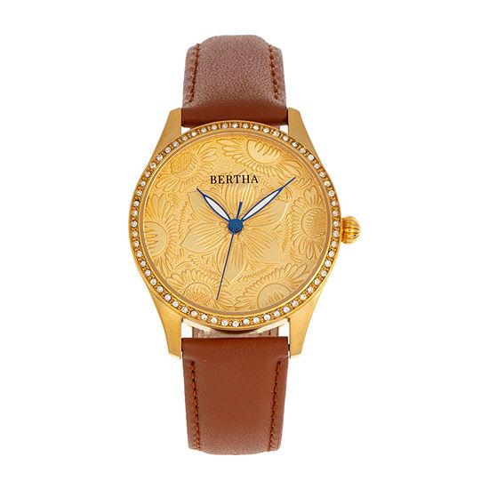 Bertha Womens Brown Leather Strap Watch-Bthbr9903