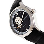 Heritor Mens Automatic Black Leather Strap Watch-Herhr8506