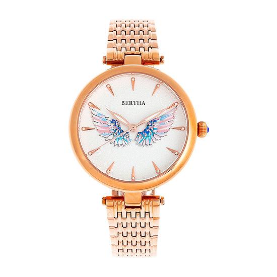 Bertha Womens Rose Goldtone Stainless Steel Bracelet Watch - Bthbr9403