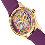 Bertha Womens Purple Leather Strap Watch-Bthbr9204