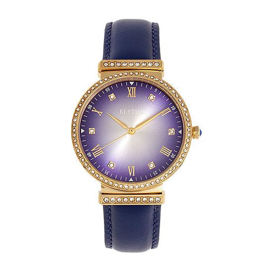 Bertha Womens Blue Leather Strap Watch-Bthbr9304