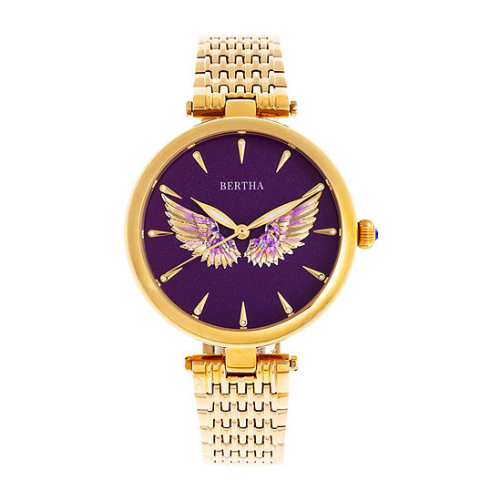 Bertha Womens Gold Tone Stainless Steel Bracelet Watch - Bthbr9402
