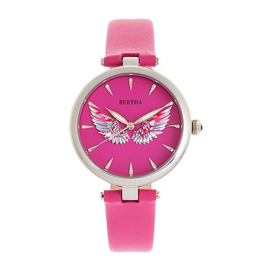 Bertha Womens Pink Leather Strap Watch-Bthbr9405