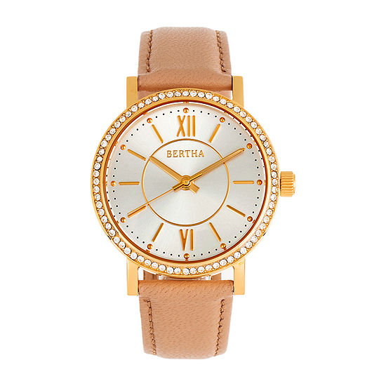 Bertha Womens Brown Leather Strap Watch-Bthbr9502