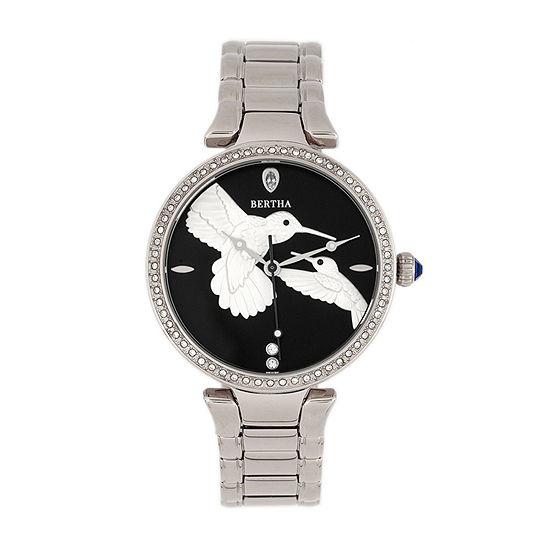 Bertha Womens Silver Tone Stainless Steel Bracelet Watch - Bthbr8501