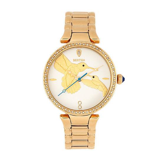 Bertha Womens Gold Tone Stainless Steel Bracelet Watch - Bthbr8502