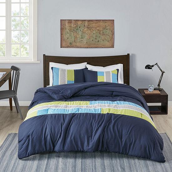 Mi Zone Switch Antimicrobial Colorblock Comforter Set