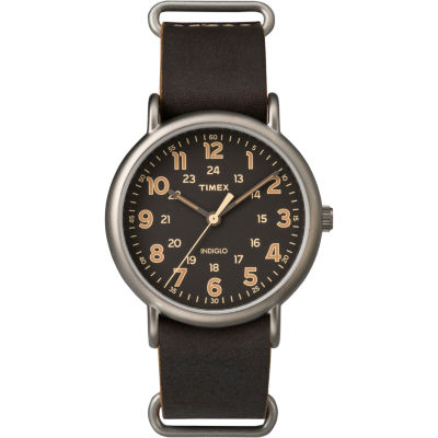 Timex® Mens Brown Weekender Watch