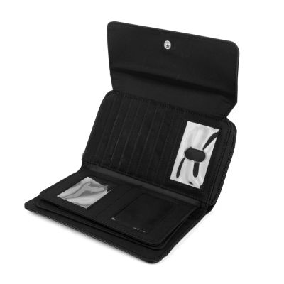 Mundi Big Fat Pebbled RFID Blocking Checkbook Wallet