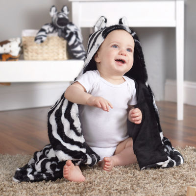 Zebra Hooded Blanket