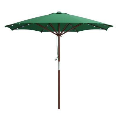 """103"""" Solar Powered Patio Umbrella"""