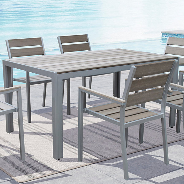 Gallant Sun Bleached Grey Outdoor Dining Table