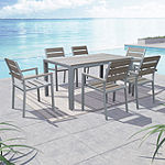 Gallant 7-pc. Sun Bleached Grey Outdoor Dining Set