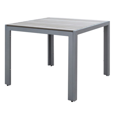 Gallant Sun Bleached Grey Square Outdoor Dining Table