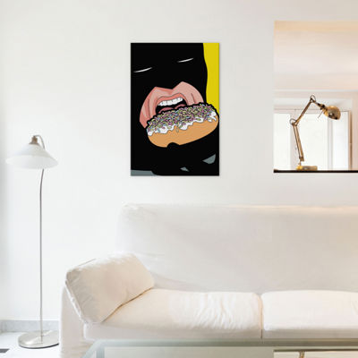 "Bat-Donuts by Gregoire ""Leon"" Guillemin Canvas Wall Art"