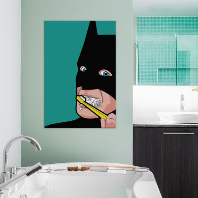 "Bat-Brush by Gregoire ""Leon"" Guillemin Canvas Wall Art"