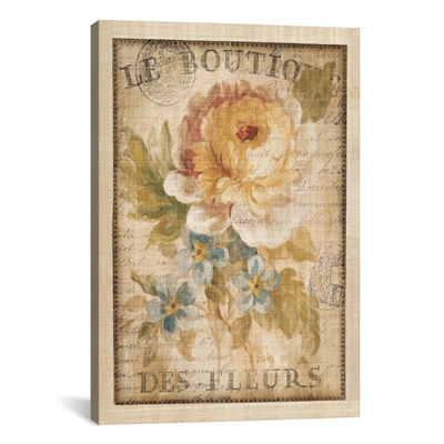 iCanvas® Parisian Flowers I By Danhui Nai Wall Art
