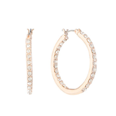 Gloria Vanderbilt 2 Inch Hoop Earrings