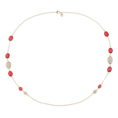Gloria Vanderbilt Womens Round Strand Necklace