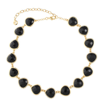 Gloria Vanderbilt Womens Round Collar Necklace