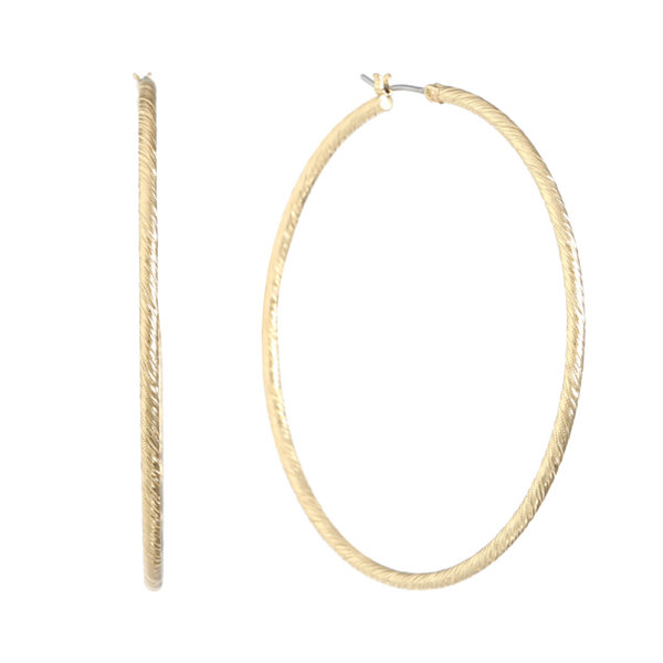 Gloria Vanderbilt 2 Inch Hoop Earrings GS1nT8DI