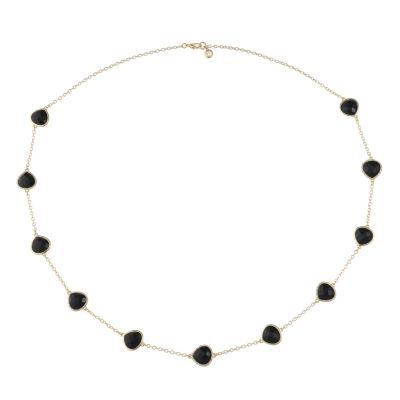 Gloria Vanderbilt Gold Tone 7.5 Inch Solid Cable Link Bracelet