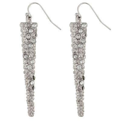 Bold Elements Clear Drop Earrings