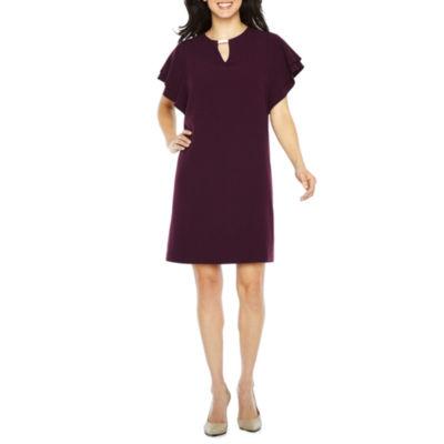 Studio 1 Short Sleeve Shift Dress