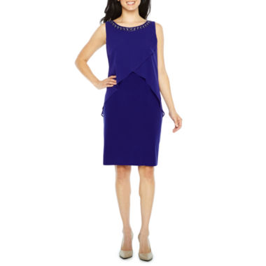 S. L. Fashions Sleeveless Sheath Dress
