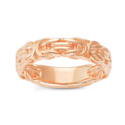 Womens 14K Gold Over Silver Band