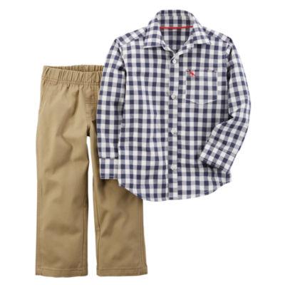 Carter's 2-pc. Plaid Pant Set Baby Boys