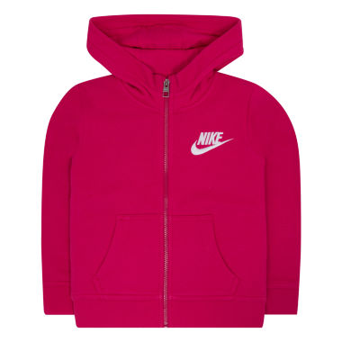 Nike Fleece Zip Hoodie - Preschool Girls