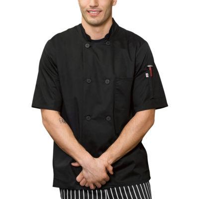 White Swan Unisex Short Sleeve Chef Coat