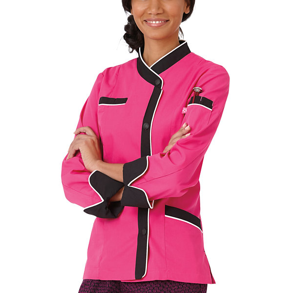 5 Star Chef Apparel Womens Long Sleeve Chef Coat