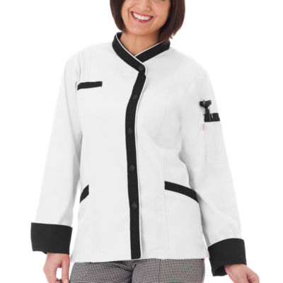 5 Star Chef Apparel Apparel Womens Long Sleeve Chef Coat