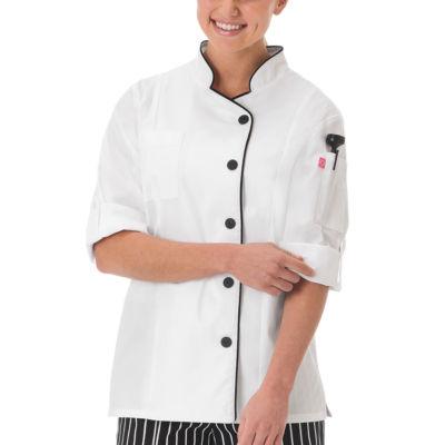 5 Star Chef Apparel Womens Long Sleeve Chef Coat