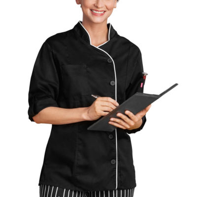White Swan Womens Long Sleeve Chef Coat-Plus