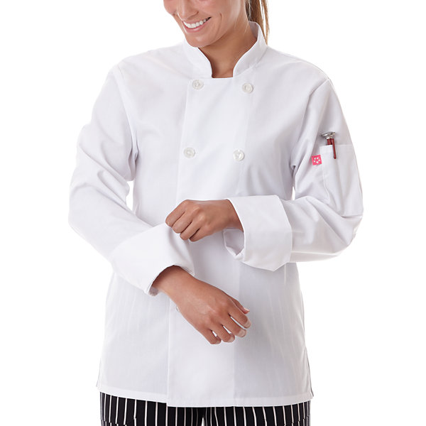 5 Star Chef Apparel Womens Long Sleeve Chef Coat-Plus