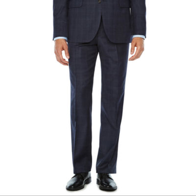 Stafford Mens Plaid Classic Fit Suit Jacket