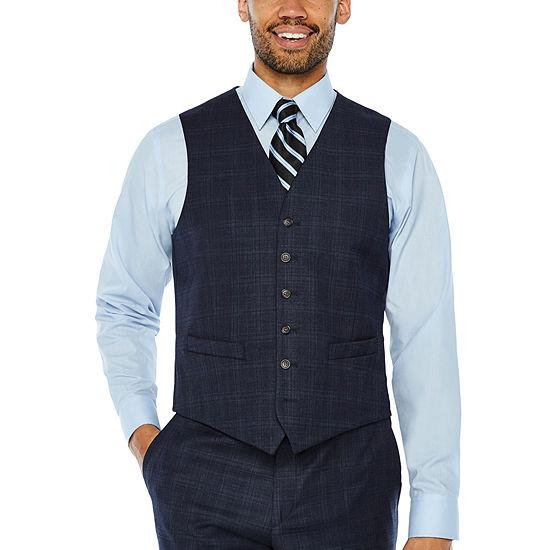 Stafford Plaid Classic Fit Suit Vest