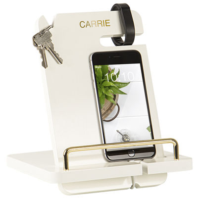 Cathy's Concepts Gold Embossed Lacquer Docking Station