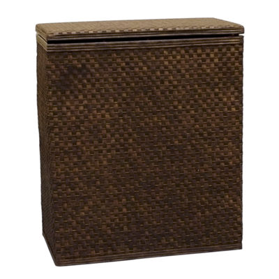 Lamont Home Whitaker Upright Wood Hamper