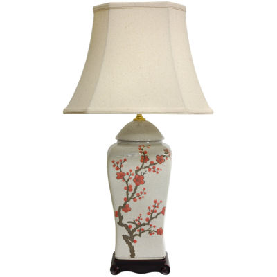 "Oriental Furniture 26"" Cherry Blossom Vase Table Lamp"""
