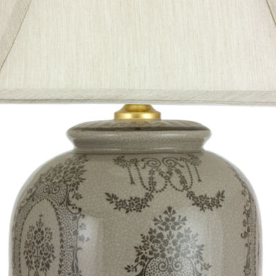 "Oriental Furniture 29"" Victorian Porcelain Vase Table Lamp"""
